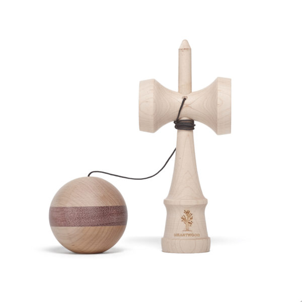 Heartwood Kendama Nature Series - Purple Heart unmounted