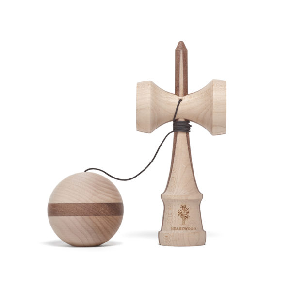 Heartwood Kendama Nature series - Two Face Walnut unmounted