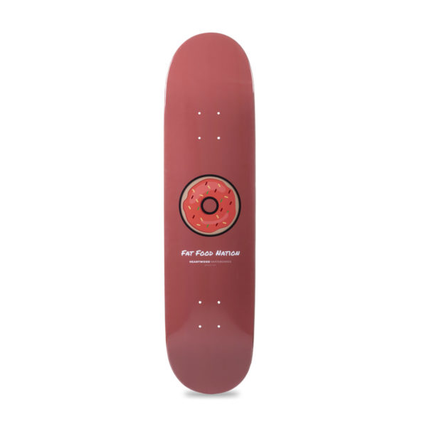 """Heartwood Skateboards - Fat Food Nation 7.75"""" skateboard deck only"""