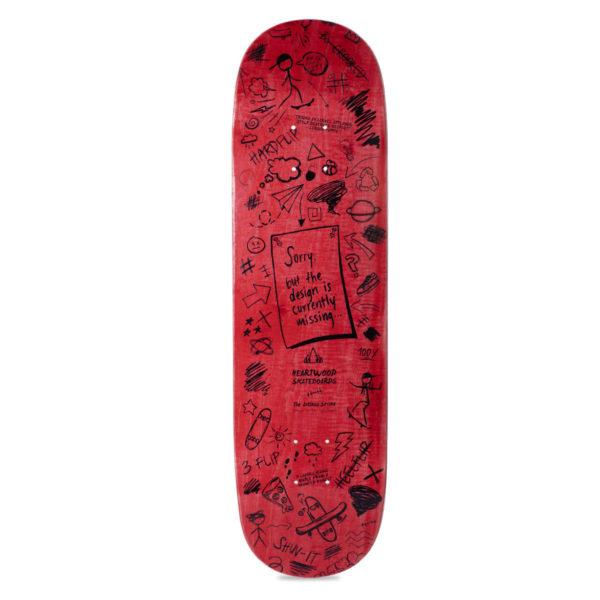 Heartwood Skateboards Artless series - red bottom