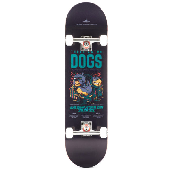 """Heartwood Skateboards - Astro Dogs 8.25"""" complete"""