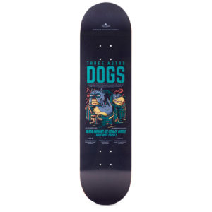 "Heartwood Skateboards - Astro Dogs 8.25"" deck only"