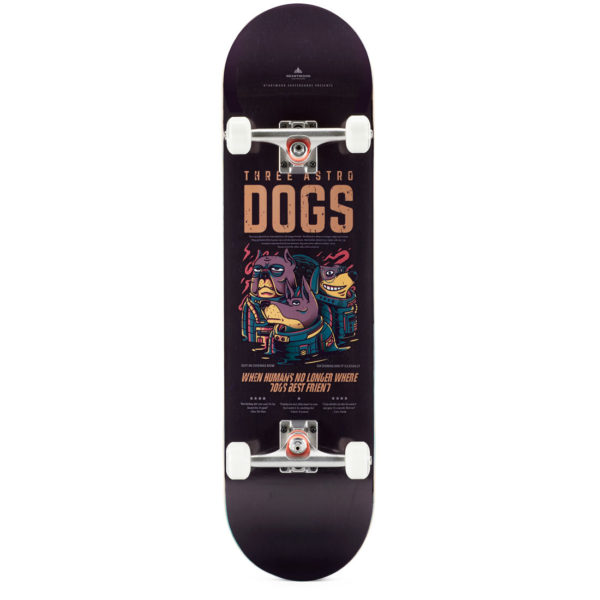 """Heartwood Skateboards - Astro Dogs 8.5"""" complete"""