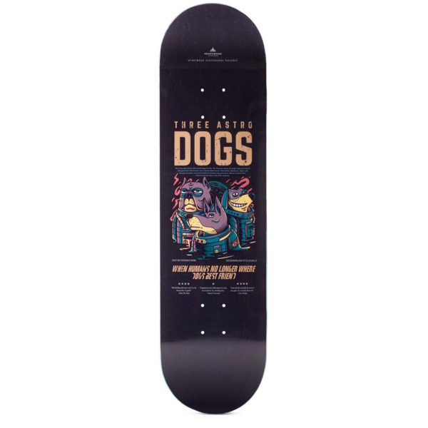 "Heartwood Skateboards - Astro Dogs 8.5"" deck only"