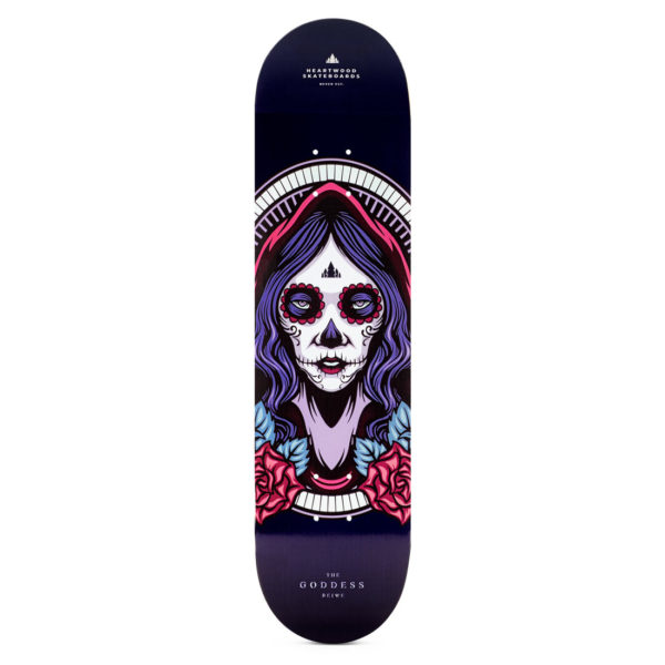 "Heartwood Skateboards - Goddess Beiwe 8.0"" deck only"
